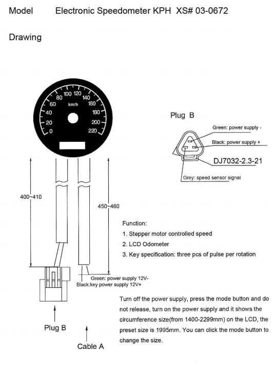 Mikes XS Electronic Tachometer