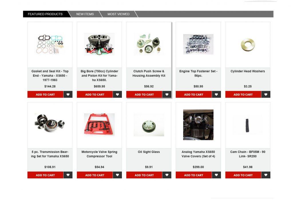 Yamaha XS650 MikesXS Featured Items November