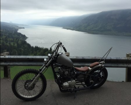 Yamaha XS650 Columbia River Gorge