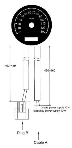 Yamaha XS650 Electronic Speedometer Installation Diagram