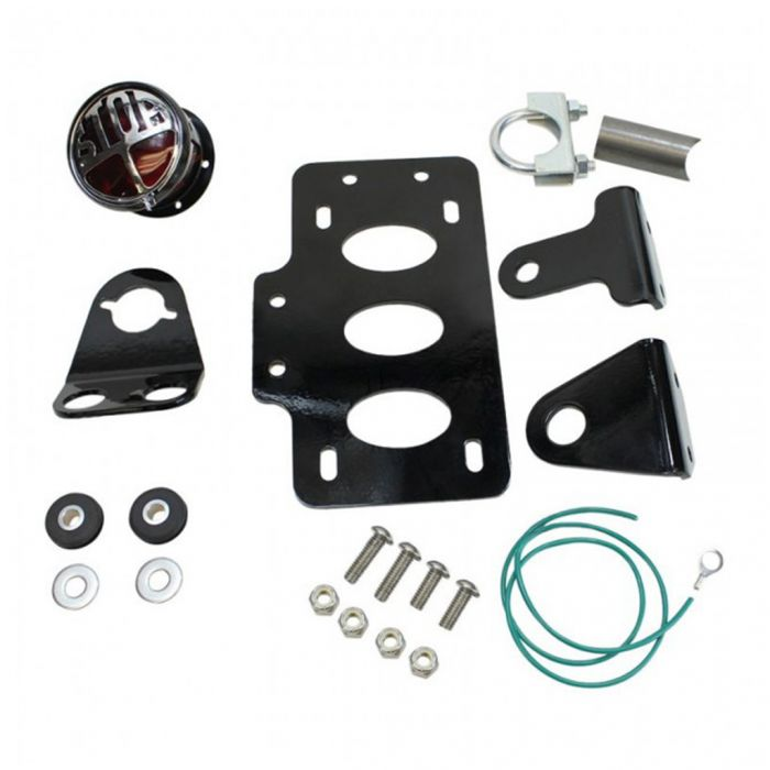 Side Mount Tail Light//License Plate Brackets Shock Mount for TC Bros