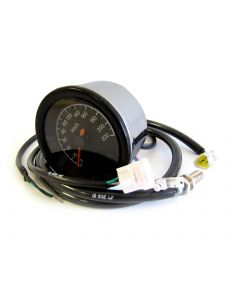 Speedometer - Electronic - KPH - Black Face - 100mm - XS650