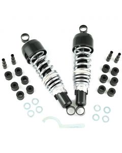 Monza Traditional Shocks 292mm Eye to Eye Blk/Chrm