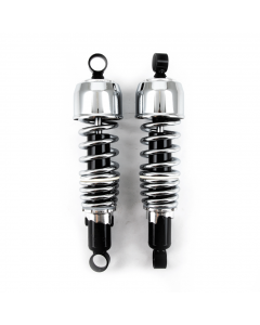 "Monza Traditional Shocks black body Chrome spring and cap 11.5"" (292mm)"