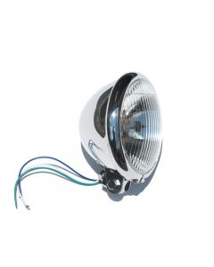 Headlight - 5 3/4 inch - Chrome - Bates Style