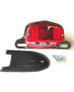 Tail Light Assembly - British style - Chrome Alloy