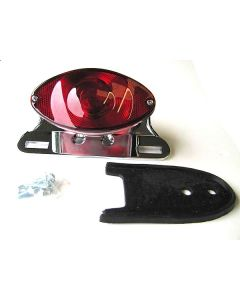 Tail Light Assembly - Cateye - Chrome Alloy Mount - 5 inch Lens