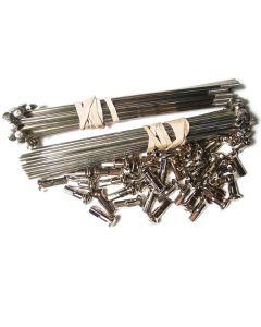 Stainless Steel Spoke set 19' Front 36 spoke '70-71
