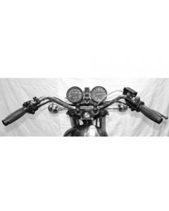 Handlebar - XS650 B/C Replica - Chrome (Drilled) 7/8""