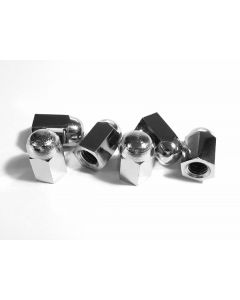 Chrome Crown Nut (pk/6) - Crankcase