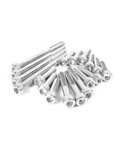 Engine Case Screw set - 18 pc.Chrome