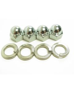 Exhaust Acorn/Crown Nut & Lock Washer Set