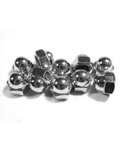 Chrome Acorn/Crown Nut (pk 10) 8mm x 1.25