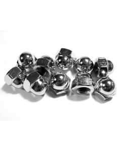 Chrome Acorn/Crown Nut (Pk/10) 10mm x 1.25
