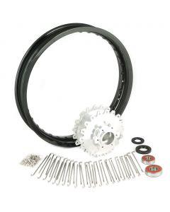 Billet Rear Hub / Rim / Spoke / Bearing Kit - XS650