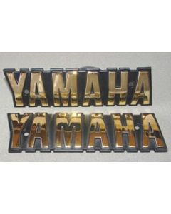 Fuel Tank Badge - Yamaha Gold Letters