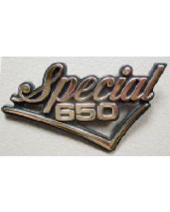 Sidecover Badge Emblem - Special 650 Checkmark Gold