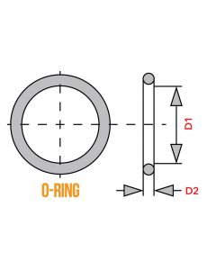 O-Ring - 45.0mm x 2.3mm - XS650 Cylinder End Cover Housing