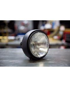 Headlight Assembly - 5-3/4 inch - Matte Black - 12V - 60/55W - H4