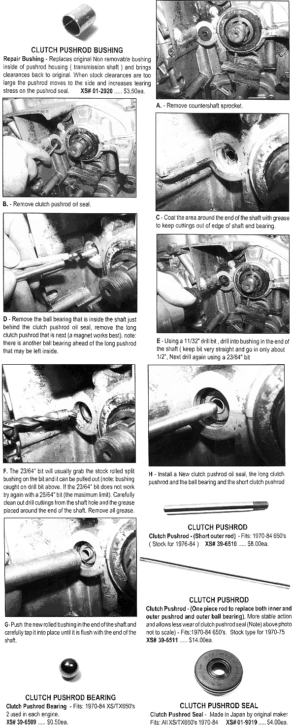 Clutch Pushrod Bushing Repair Instructions
