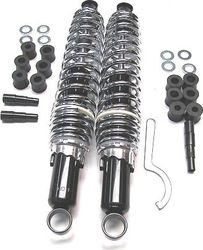 "Monza Traditional Shock set 365mm (14.4"") Black body, chrome spring Photo"