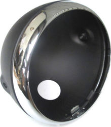 "7"" ""Lucas"" style motorcycle Headlight - black Photo"