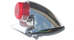 Sparto taillight - chrome with projected lens - LED Photo