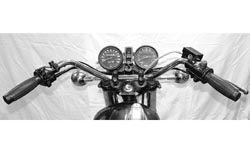 "Handlebar - XS650 B/C Replica - Chrome (Drilled) 7/8"" Photo"