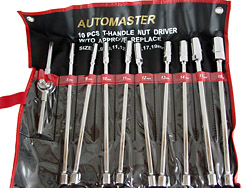 Metric 10pc. T-Handle Nut Driver Set Photo