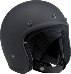 BILTWELL Bonanza Helmet - Flat black - Small Photo