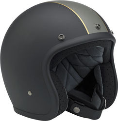 BILTWELL Bonanza Helmet - Le Racer - Black/Grey/Gold - Medium Photo